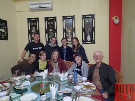 Having chinese food in Tirana.