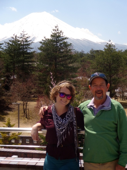 Mt. Fuji with my step-dad.